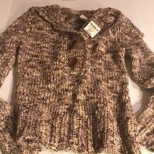 BKE Tan and Brown Sweater Sz M NWT